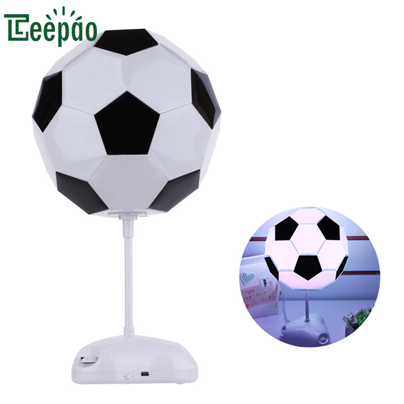 MINI Football Design Table Lamp Creative Assembly LED Night Light Switchable Mode Adjustable Light USB Desk Lamp for Kid Bedroom artpad creative cute cartoon umbrella style totoro night lamp usb port charged led bedroom light for kid boy girl desk lighting