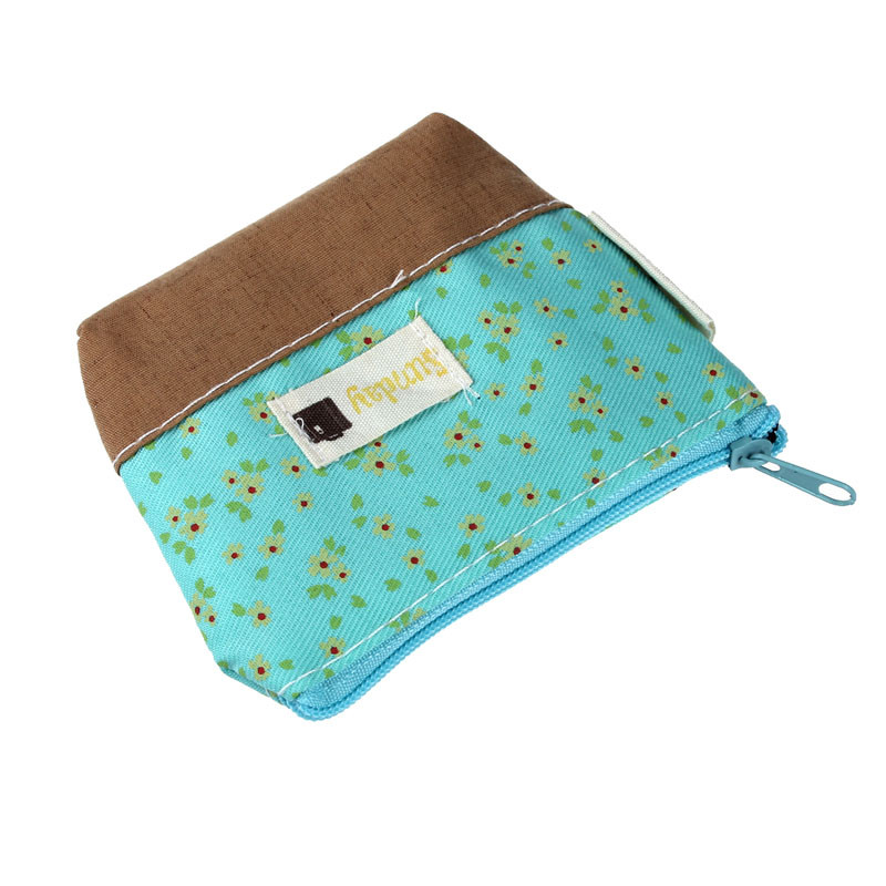 Storage Bags Canvas Printed Coin Purse Mini Tote Portable Pouch Purse Trinket Jewelry Tin Key Coin Storage Bag Zipper Change Case Purses Soft And Light