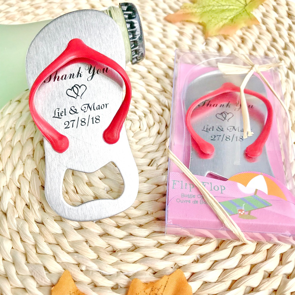FREE SHIPPING(200pcs/Lot)+Beach Wedding Favor Customized Flip-flop ...