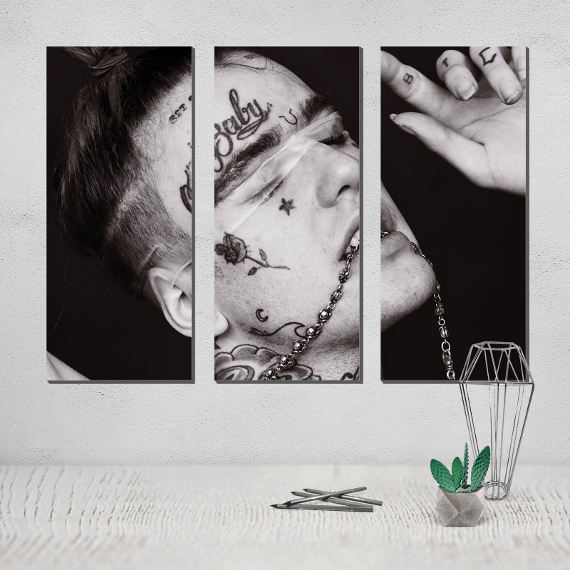 Lil Peep Painting Photo Canvas Poster Painting Modern Abstract Painting on Canvas Decorative Pictures Hand Made Canvas Art Pop in Painting Calligraphy from Home Garden