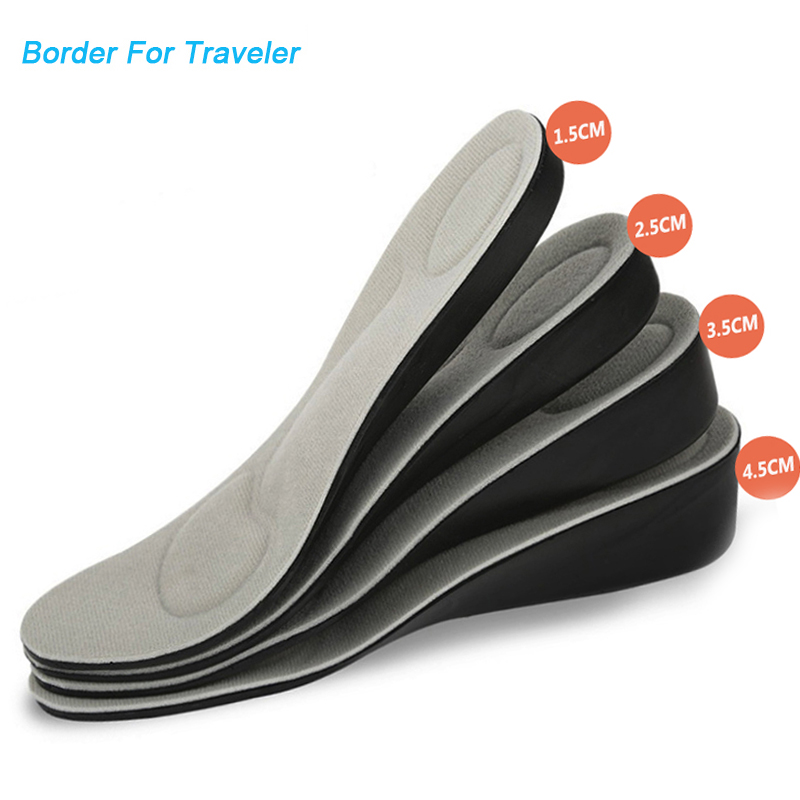 MCH01 Height Increase Insole For Men Women 1 .5 Cm Grow Taller Increase Height Shoe Pad Heel Lift Taller Pad