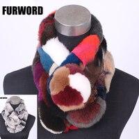 ฤดูหนาวใหม่ที่ทำจากขนสัตว์ผ้าพันคอหญิงกระต่ายผมผ้าพันคอแฟชั่นอบอุ่นส่วนหนาสามหลอดตุ๊ก...