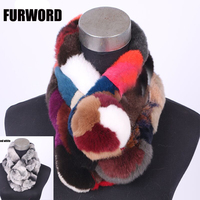 The New Winter Fur Scarf Female Rabbit Hair Scarf Fashion Warm Thickened Section Three Tube Plush
