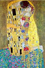 Beautiful love Paintings by Gustav Klimt The Kiss Reproduction Canvas art for wall decor Hand painted High quality