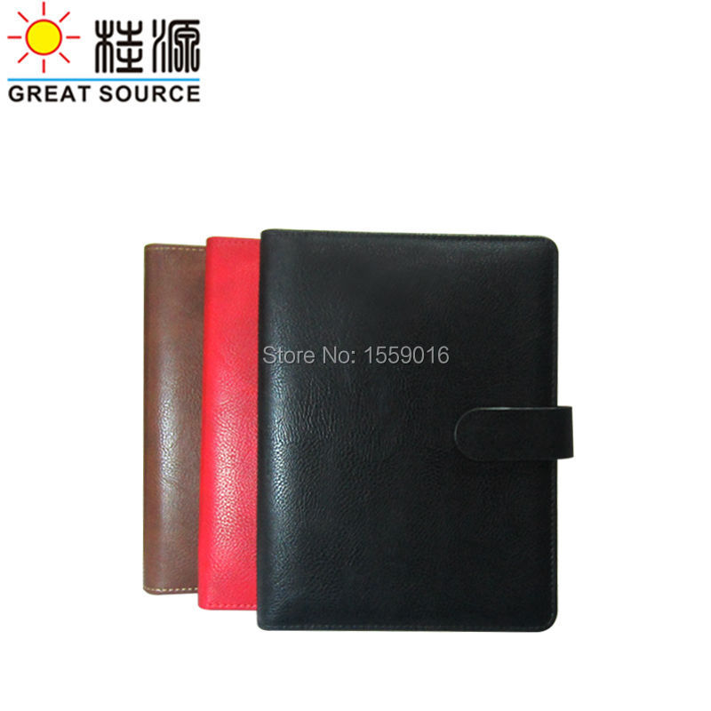 A5 Binder Leather Folder For A5 Notebook Clear File Leather Cover Clear Pen Bag Colorful Sticker Soft Ruler