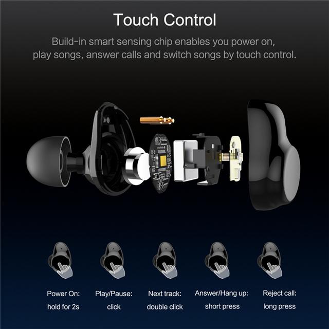 TWS Wireless Touch Control Earphone Earbuds