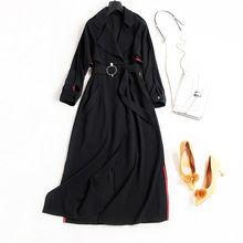 High quality long trench coats 2018 new brand runway women sprint trench coats fashion office lady
