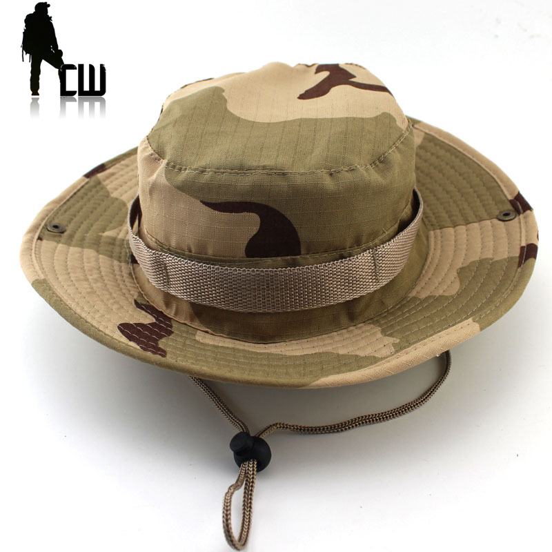 US A-TACS Battle Rip ATACS Boonie Army Military cap Sun Hat Size L Mützen Camping & Outdoor