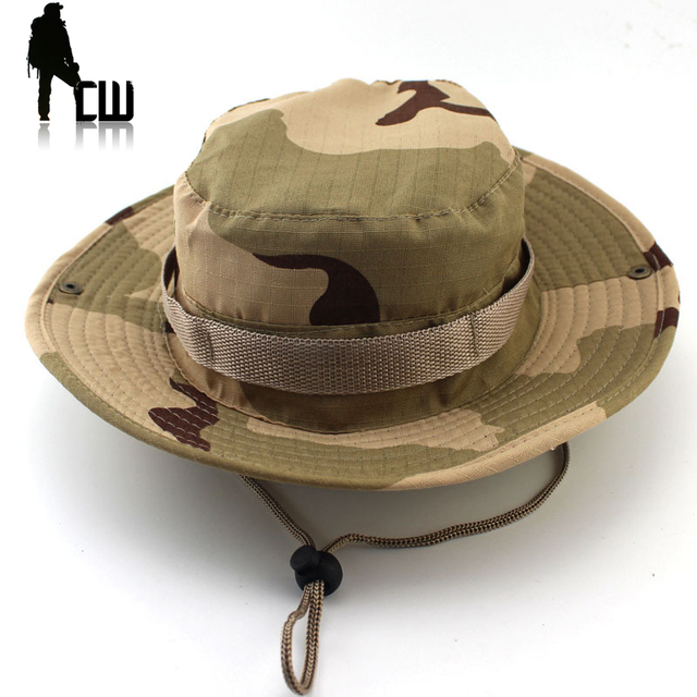 05bc62e6b3f9b Tactical Airsoft Sniper Camouflage Boonie Hats Nepalese Cap Militares Army  Mens American Military Accessories Hike A-tacs FG