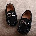 Alta calidad kids shoes soft sole shoes niñas cuero genuino moccains cómodo bebé 2016 otoño mocasines planos ocasionales