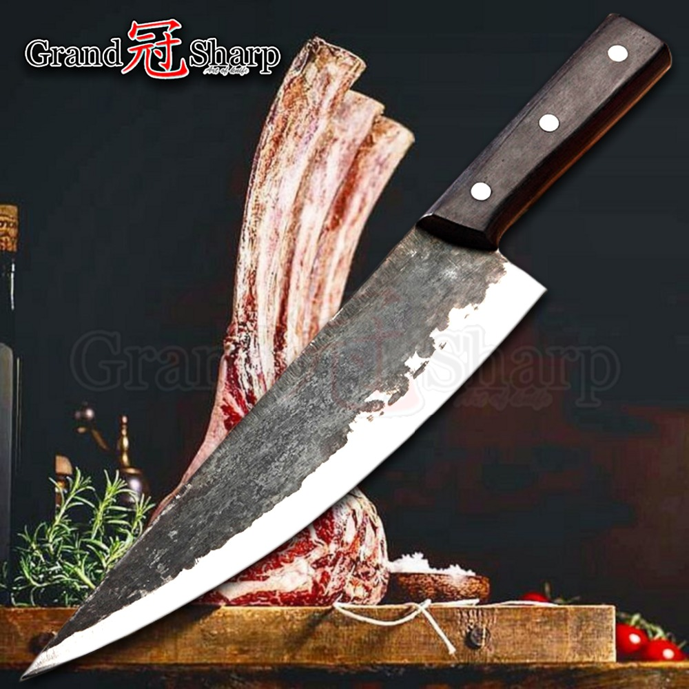 Handmade Chinese Chef Knife Clad Forged Steel Boning Slicing Butcher Kitchen Knives Made in China Kitchen