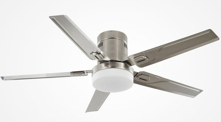 Simple Design Ceiling Fan With Light Silver Color Quiet