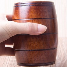 Business Gifts Beer Cup Classic Natural Zaomu Handmade Wood with High Quality
