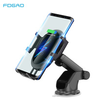 FDGAO QI Wireless Car Charger Gravity Stand For iPhone X XS XR 8 plus 10W Fast Charger USB Car Charging Holder For Samsung S9 S8 fast car wireless charger cup qi charging stand for iphone x 8 plus samsung s9 8 7 6edge sony lg mix usb induction charge holder