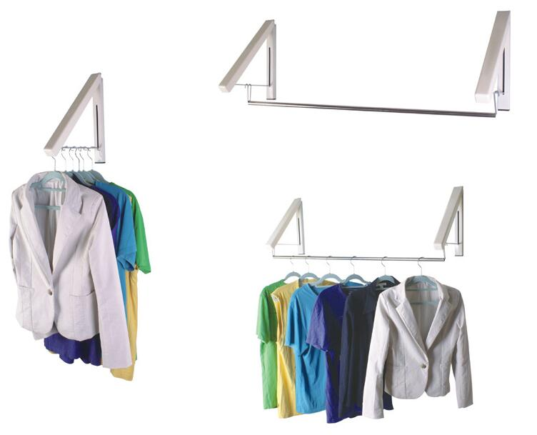 high quality magic hidden wall hangers folding clothes drying racks household coat hangerchina - Clothes Wall Hanger