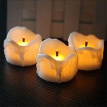 Flackern Batterie Votiv Kerzen, 6 oder 12 stücke, warme Weiße geführte kerzen, Kleine kerze led flamme vacillante, romantische Kerzen