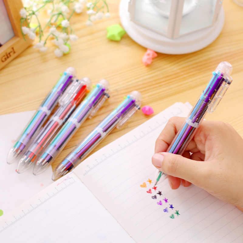 12 pcs/lot drôle 6 couleurs stylo bricolage Crayon Crayon dessin stylo ensemble pour enfant enfants partie butin sac remplisseurs fête fournitures