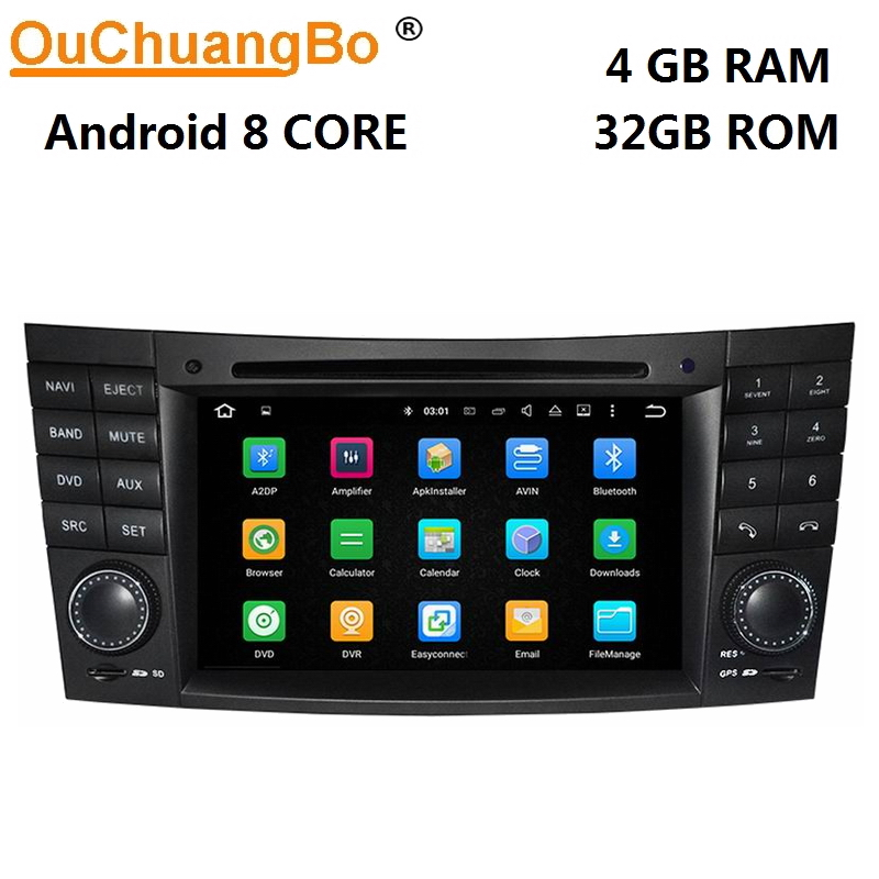 Ouchuangbo car audio for <font><b>Mercedes</b></font> Benz E <font><b>W211</b></font> CLK W209 CLS W219 with PX5 android 9.0 <font><b>gps</b></font> navigation dvd radio 8 core 4GB+64GB image