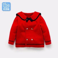Dinstry Spring And Autumn Baby Boy And Baby Girls Cardigan Coat Jacket British Style Children Wear