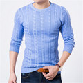 2016 Inverno Camisola Dos Homens O-pescoço Casual Knit Jumpers Blusas Pulôveres de Manga Longa Dos Homens Famosos Homens Marca Camisola Elegante