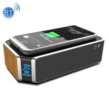 4400 mAh Cargador de Carga Inalámbrica Para el iphone 7 plus Samsung S7 borde Estéreo Altavoz NFC Manos Libres Recibir Llamadas de Radio FM