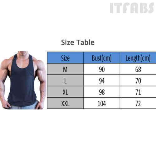 Gym Otot Pria Kemeja Tanpa Lengan Tank Top Binaraga Olahraga Latihan Kebugaran Rompi