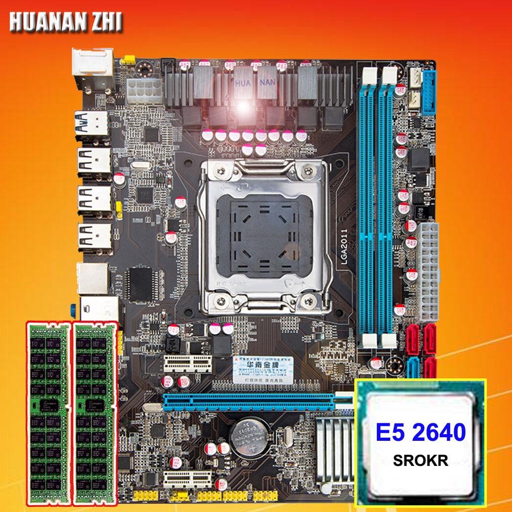 Computer DIY HUANAN ZHI X79 Micro-ATX motherboard CPU RAM combos CPU Intel Xeon E5 2640 SROKR 2.5GHz RAM 8G(2*4G) DDR3 REG ECC getworth s6 office desktop computer free keyboard and mouse intel i5 8500 180g ssd 8g ram 230w psu b360 motherboard win10