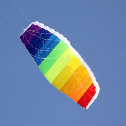 free shipping dual line large Parafoil kites flying rainbow stunt kite with line ripstop nylon kitesurf weifang factory free shipping high quality 2 4m jazz dual line stunt kites with handle line kite sport kite weifang kite parafoil hcxkites