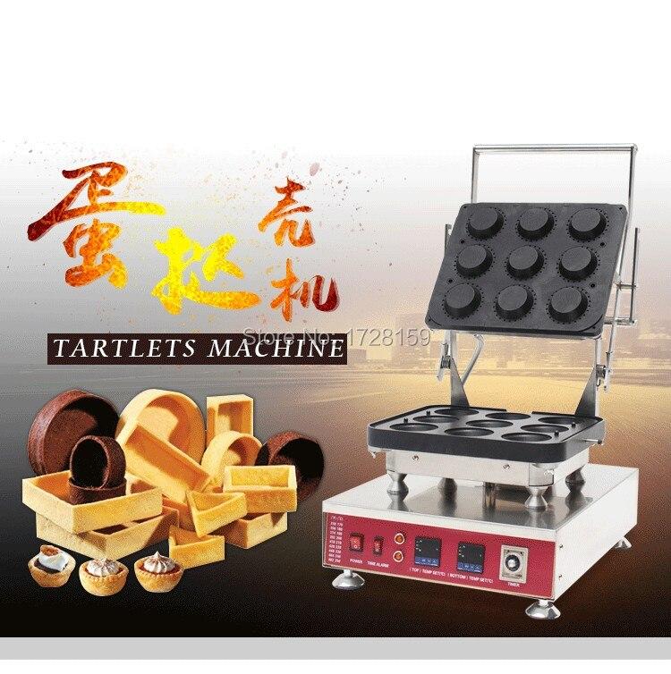 US $825 0  Hot Sale New 9 Pieces Commercial Tart Baking Machine, Digital  Tart Forming Machine, Tart Shell Moulding Machine, Tartlet Maker-in Waffle