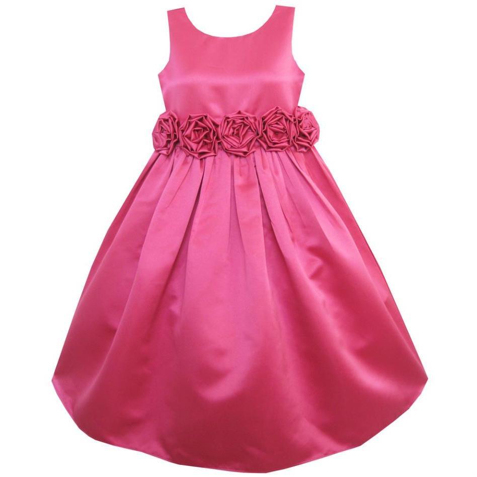 Sunny Fashion Vestido niña Rosa Rosa Shinning Boda Pageant La dama ...