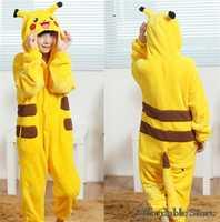 Pikachu children laugh laugh toilet zipper thickened animal piece pajamas flannel cute pajamas