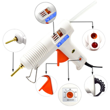 150W 100W Hot Melt Glue Gun with Temperature Control Thermostat 5 Free Glue Sticks for Home DIY Industrial Manufacture цена и фото