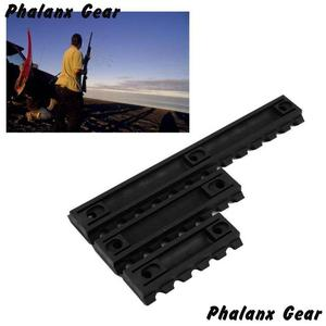 "Image 5 - 3 Sizes Set 5 7 13 Slot 2 ""3"" 5 ""Picatinny Weaver Rail Mount ABS Plastic Keymod Rail Handguard Section for Hunting"
