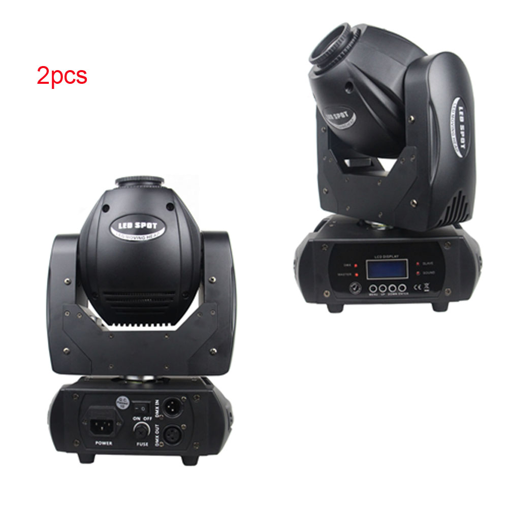 2pcs LED 60W moving head spot stage light dmx 12ch with prism disco light niugul dmx stage light mini 10w led spot moving head light led patterns lamp dj disco lighting 10w led gobo lights chandelier