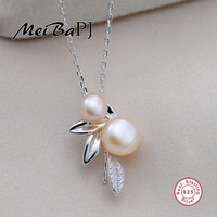 MeiBaPJ Sterling Silver Jewelry Top Quality Dragonfly Pendant Freshwater Pearl Jewelry Necklace Pendant For Women