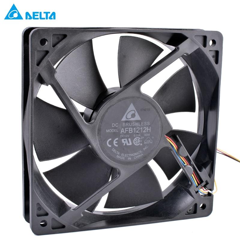 DELTA AFB1212H 12025 120mm fan 120x120x25mm 12V 0.35A Computer CPU fan