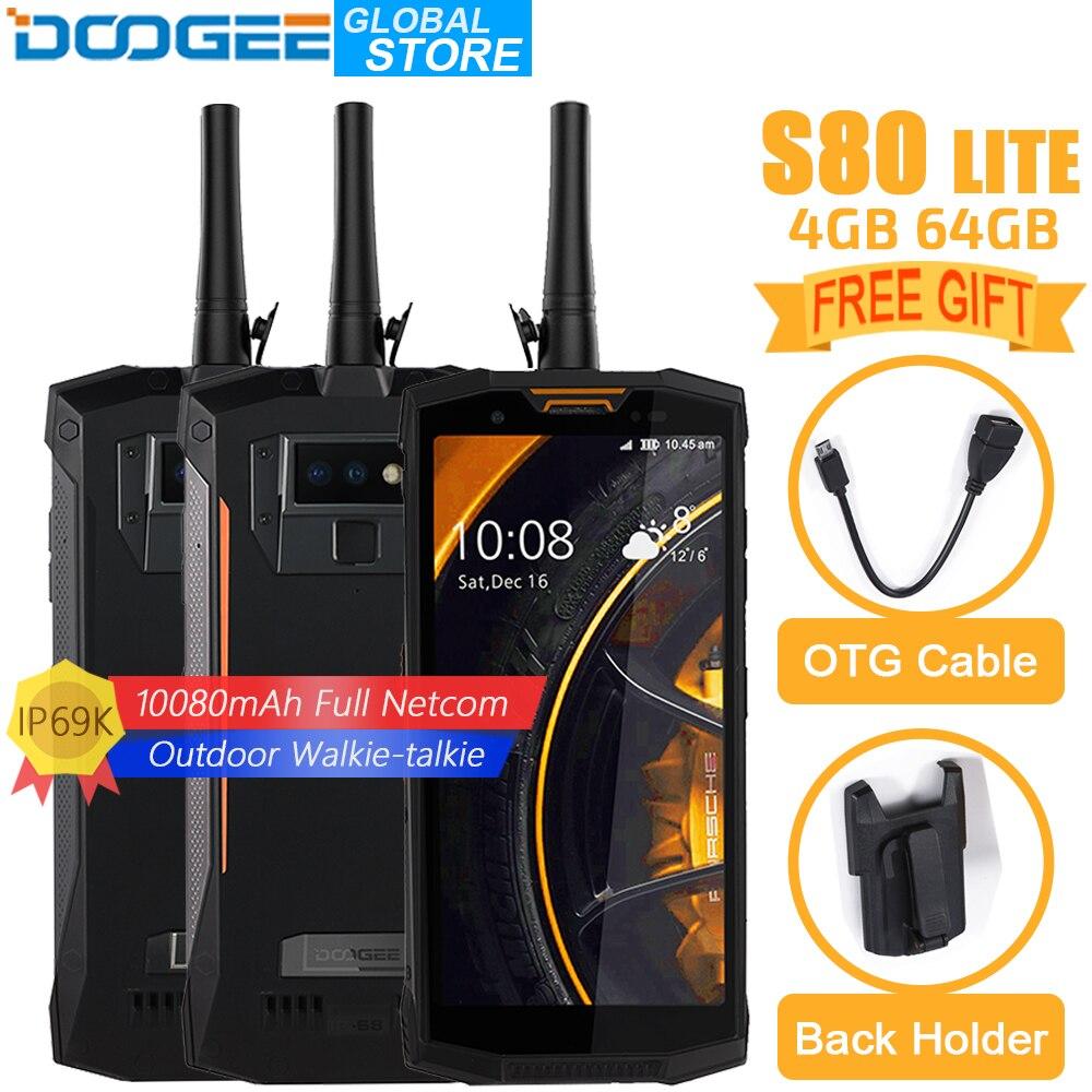 DOOGEE S80 Lite Del Telefono Mobile IP68/IP69K Walkie talkie Carica Senza Fili NFC 10080 mah 12V2A 5.99 FHD Helio P23 octa Core 4 gb 64 gb