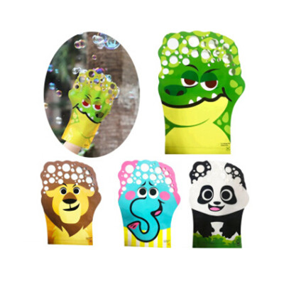Hot Sale 9 Styles Glove Bubble Cartoon Professional Bubble Water - cartoon children play