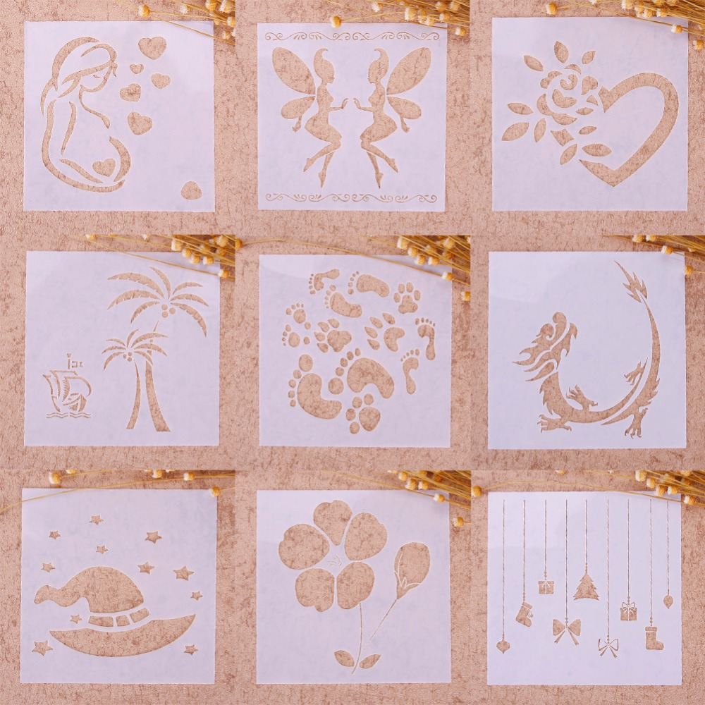 Printing Drawing Airbrush Painting Stencil DIY Craft Scrapbooking Album Decor