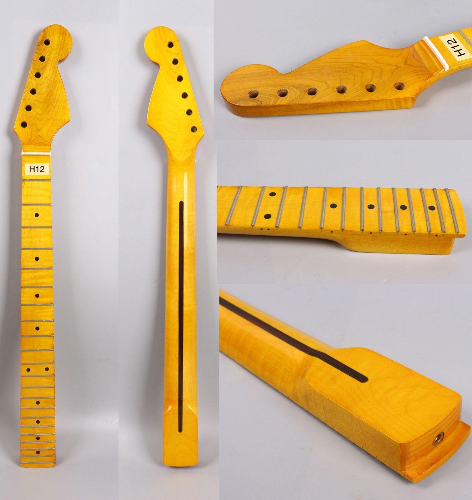 Accessoires de pièces de guitare électrique Strat de remplacement du cou 22 de guitare d'érable de flamme