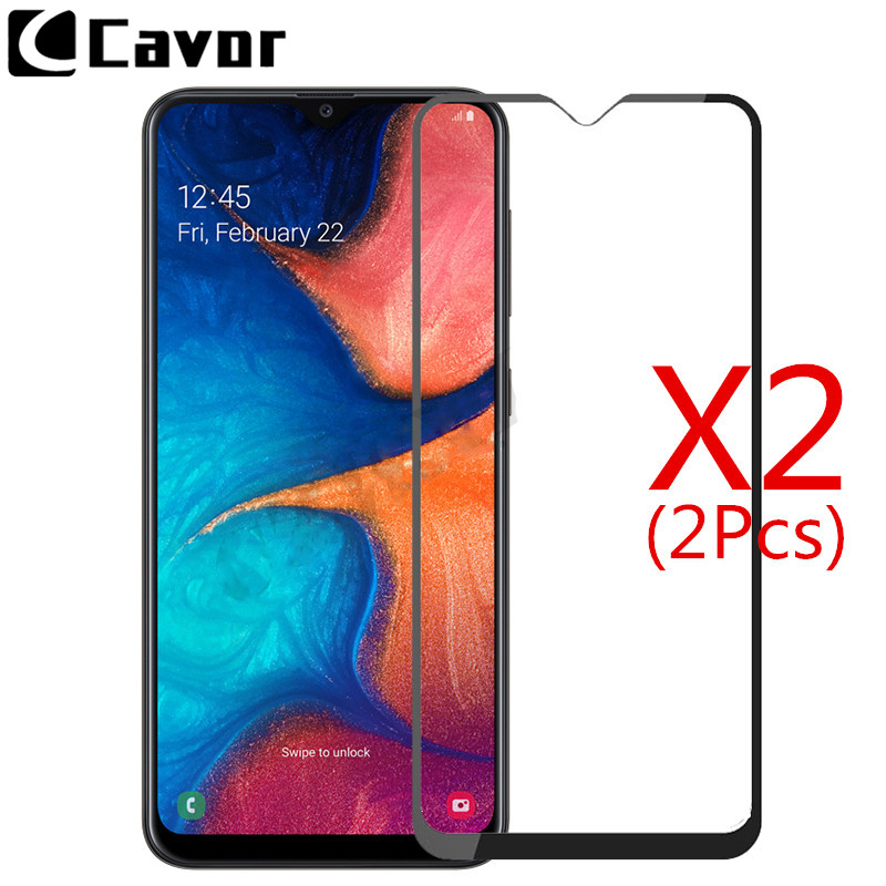 2Pcs Tempered Glass For Samsung Galaxy A20 A20e Case Full Cover Glass Mobile Accessories Screen Protector Film For Galaxy A 20 E