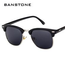 BANSTONE Medio Clásico de Metal gafas de Sol Polarizadas Hombres Mujeres Gafas de Espejo Gafas de Sol de Moda gafas De Sol Oculos