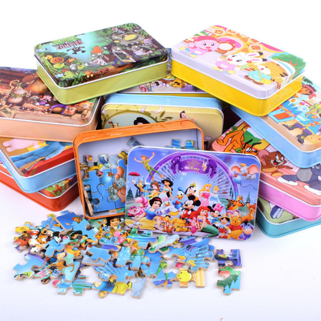 Hot Sale High Quality Children's Cartoon Jigsaw Puzzle Nursery  Toys 60Pcs Small Boxes Of Educational Toys Baby Toy HT2579