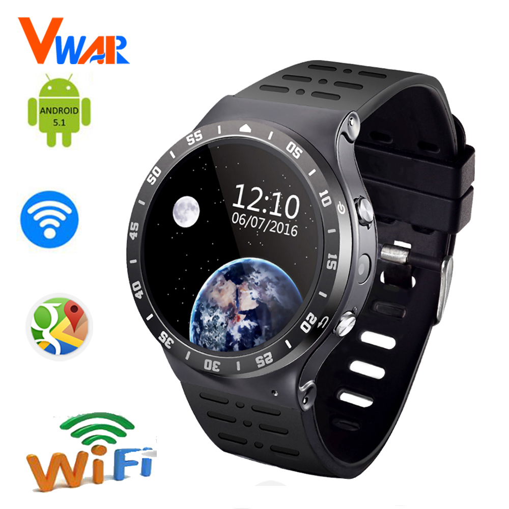 3G WCDMA Quad-Core Android 5.1 8G ROM Smart Watch GPS WiFi 5.0MP HD Camera Pedometer Heart Rate for apple VS iwo 2 k88h kw88 inew v3 mtk6582 1 3ghz quad core 5 0 дюймовый hd экран android 4 2 2 3g смартфон