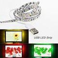 1 M/2 M/3 M/5 M USB conduziu a Luz de Tira 60 leds/m DC 5 v 3528 SMD LED Fita flexível fita neon + Cabo USB