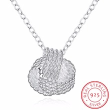 INALIS 925 Sterling Silver Women Pendant Collares Rose Ball Slide Chain Necklaces Accessories Fine Jewerly Collares Pingente