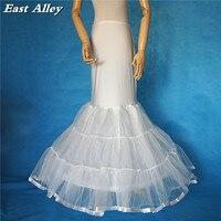 Artı BOYUTU Mermaid Trompet Düğün Elbise Petticoat Kabarık Etek Jüpon Tam Kayma Fildişi/Beyaz/Siyah