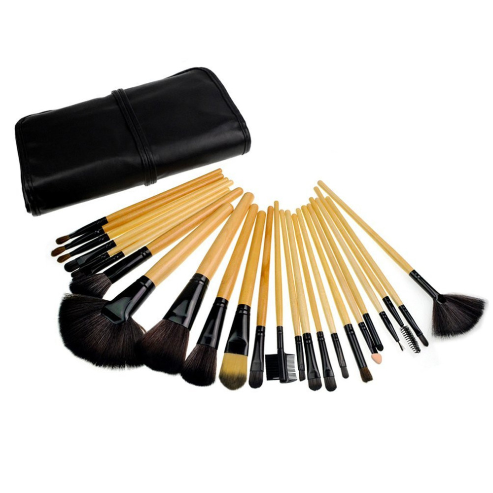24pcs Professional Cosmetic Makeup Brush Set with Bag cars cars moving in stereo the best of the cars 2 lp