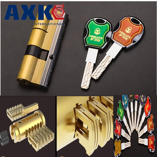 AXK Anti-theft door lock core Super c-36 blade copper super b-level anti-violence multi-track universal core, with 10pcs Key hot 65mm super c type eight orbit lock cylinder prevent torsion violence tinfoil steel shell anti theft lock for home use