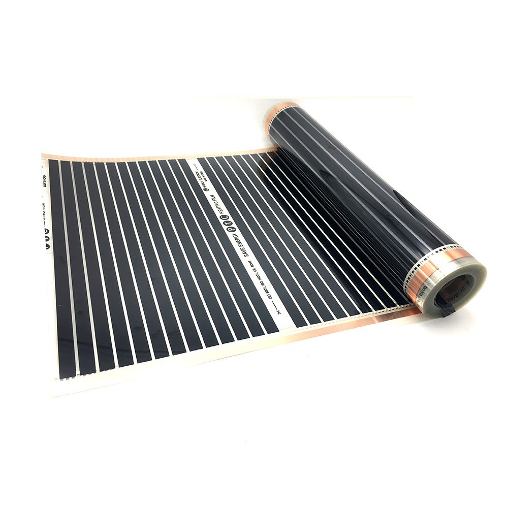 Image 3 - 22M2 PTC Infrared Carbon Heating Foil Mat for Underfloor Tiles Wood Linoleum Laminate Heating with Installation Clips DuabFloor Heating Systems & Parts   -